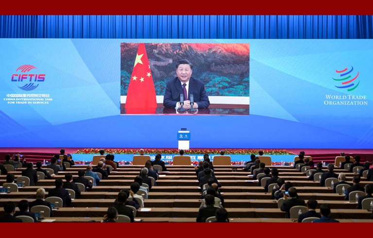 Xi makes three proposals at int'l services trade fair
