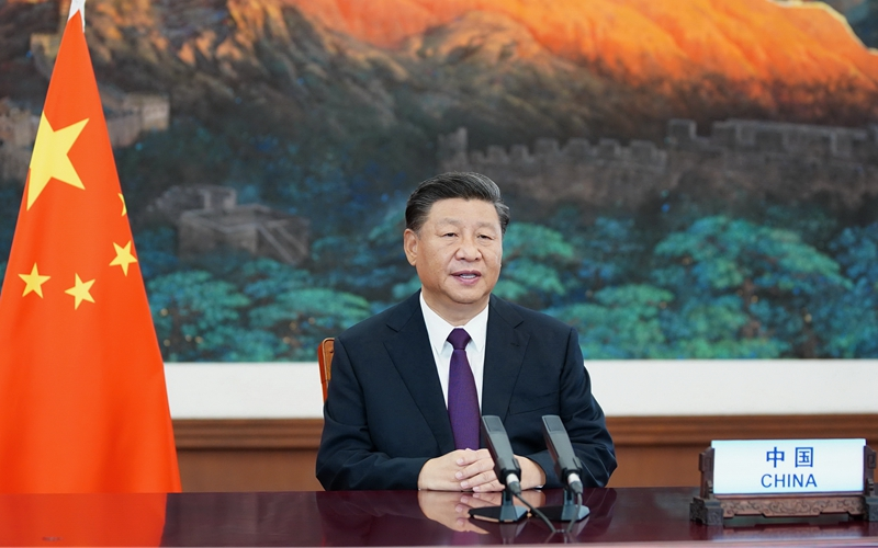 "Xi Focus: Xi expounds on UN's role in post-COVID era, opposing unilateralism, ""boss of world"""