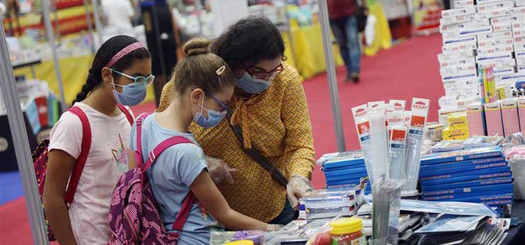 Feature: Egypt holds exhibitions to sell low-price school supplies to ease parents' burdens