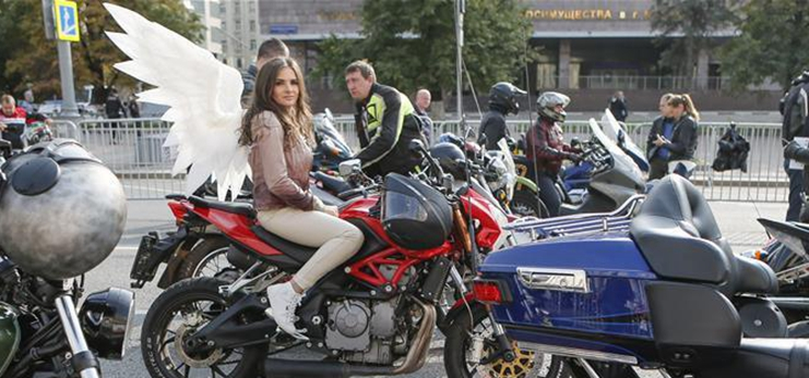 Motorcycle season marked in Moscow, Russia