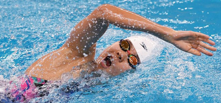 Highlights of Chinese National Swimming Championships on Sept. 30