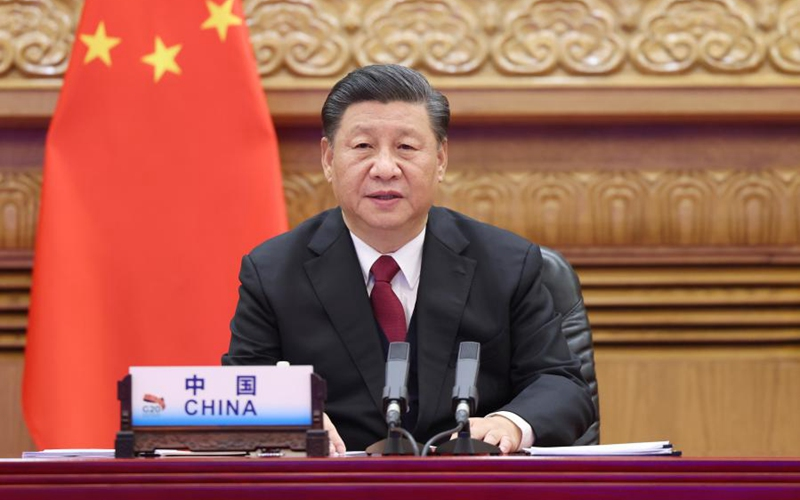 Xi Focus: Xi expounds on sustainable development at G20 meeting