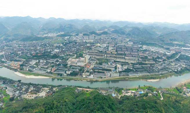 Pic story: small town famous for producing Chinese liquor brand Moutai