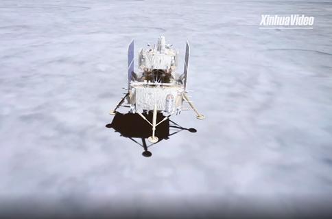 China's Chang'e-5 lands on moon