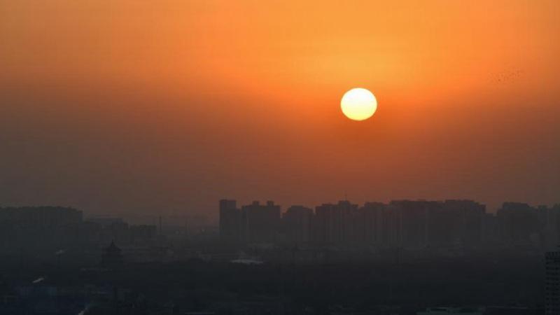View of sunrise in Beijing