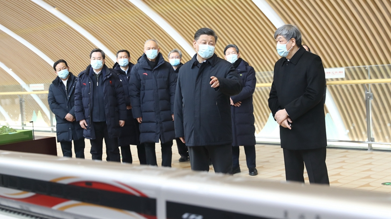 Xi inspects Zhangjiakou competition zone of Beijing 2022