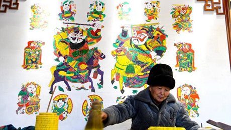 China's intangible cultural heritage: wood-block New Year painting