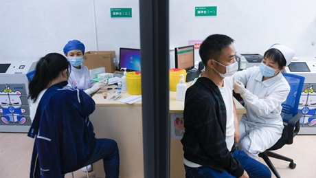 Inoculation of 2nd COVID-19 vaccine shot kicks off in Futian District, Shenzhen