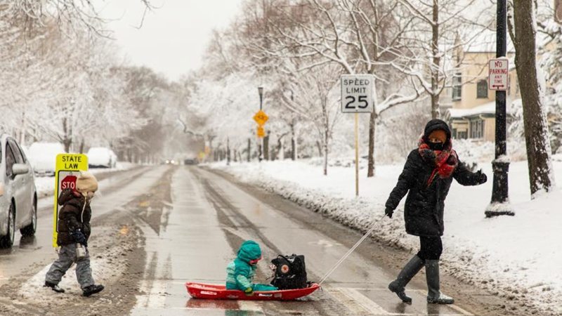 Winter storm hits U.S. Chicago area