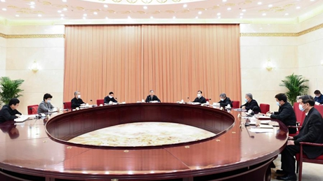 Senior political advisors study Xi's speech at top disciplinary body session