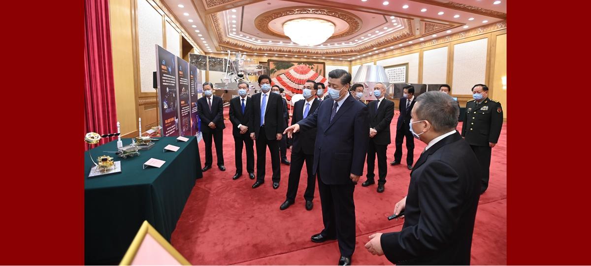 Xi meets Chang'e-5 mission representatives