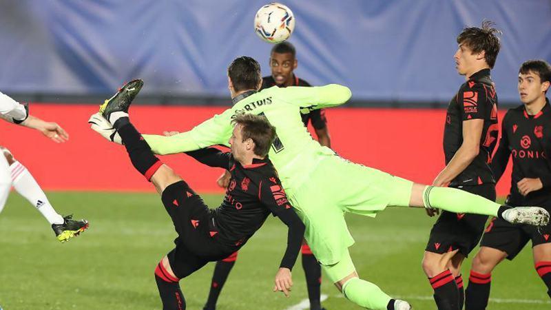 Spanish league football match: Real Madrid vs. Real Sociedad