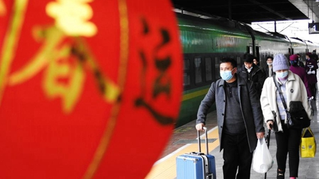 China reports sharp drop in Spring Festival travel