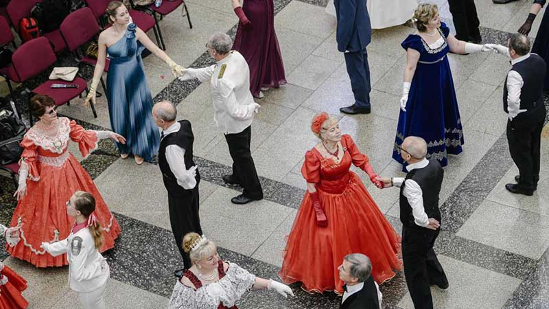 Traditional Spring Ball held in Moscow, Russia
