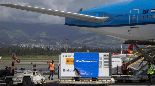 1st batch of Chinese-developed Sinovac COVID-19 vaccines arrives in Ecuador