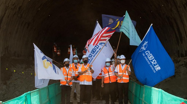 Malaysia-China joint train project sees 1st tunnel breakthrough