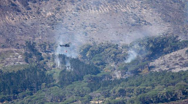 """Table Mountain fire """"largely contained"""", but danger remains: provincial gov't"""