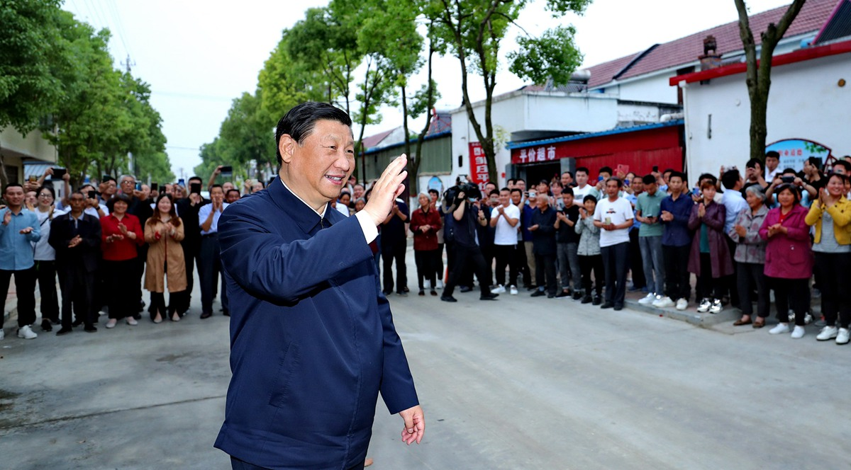 Xi stresses striving for people's well-being