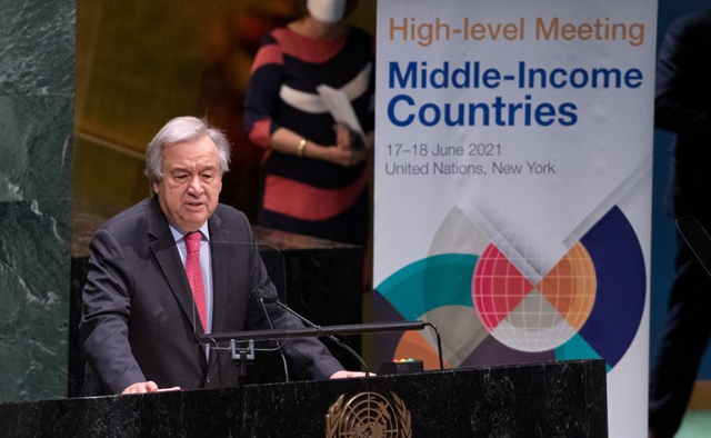 UN chief calls for debt relief extension for middle-income countries