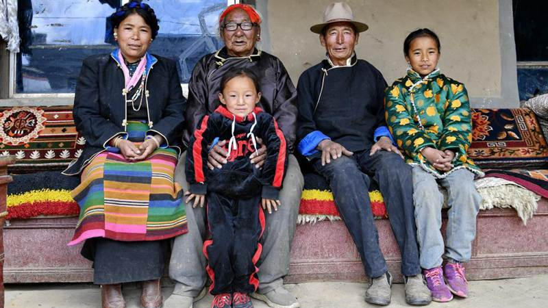 Former serf enjoys happy life in Tibet
