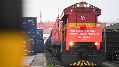 China-Europe freight trains support economic lifeline amid pandemic