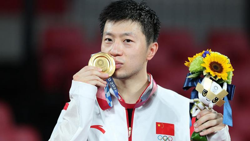 China's Ma makes history with table tennis men's singles gold in Tokyo 2020