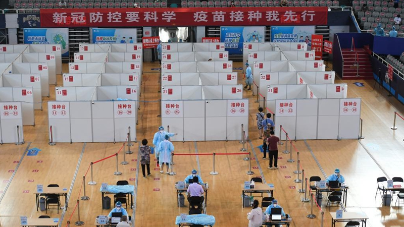 People receive COVID-19 vaccines in Nanjing