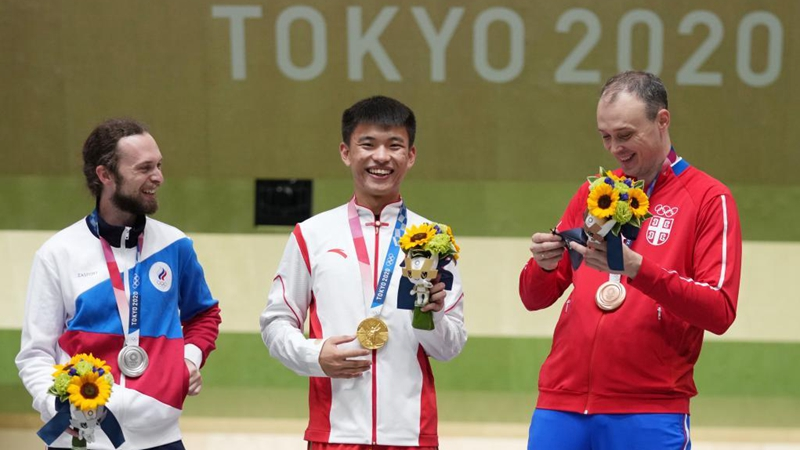 Feature: Chinese shooter Zhang makes two Olympic dreams a reality