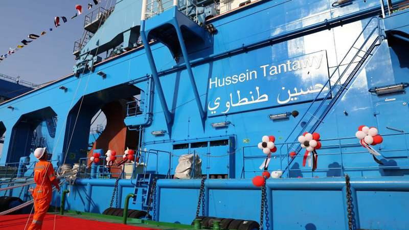 Egypt's Suez Canal celebrates arrival of new giant dredger