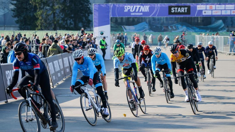 Sputnik bicycling event held in Moscow, Russia