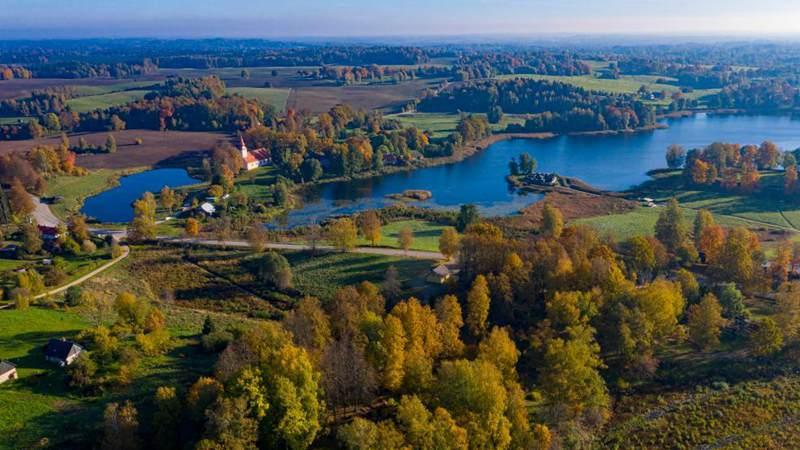 Autumn scenery in Cesis, Latvia