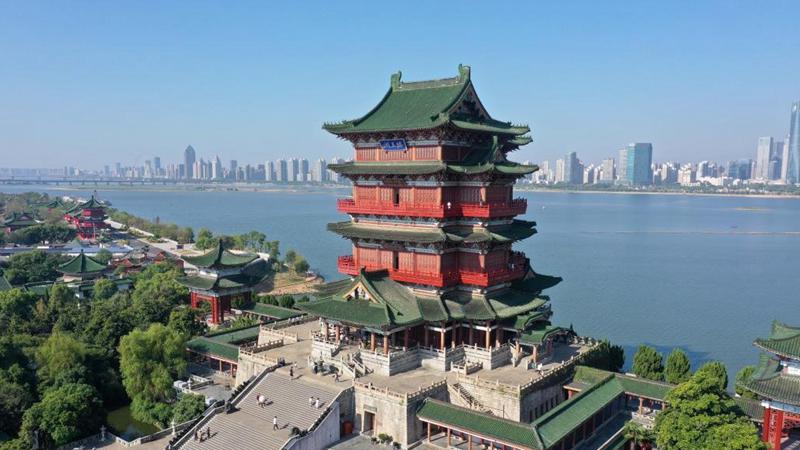 Scenery of Tengwang Pavilion scenic spot in Nanchang