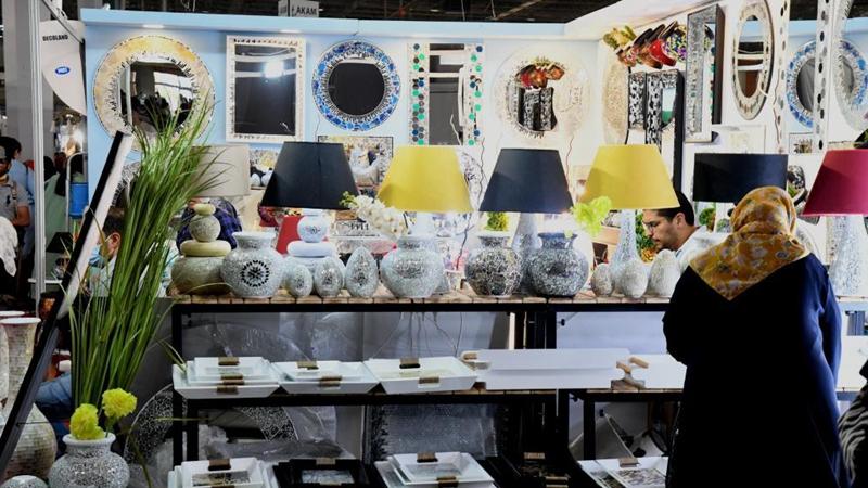 People visit innovation salon of handicrafts in Tunis, Tunisia