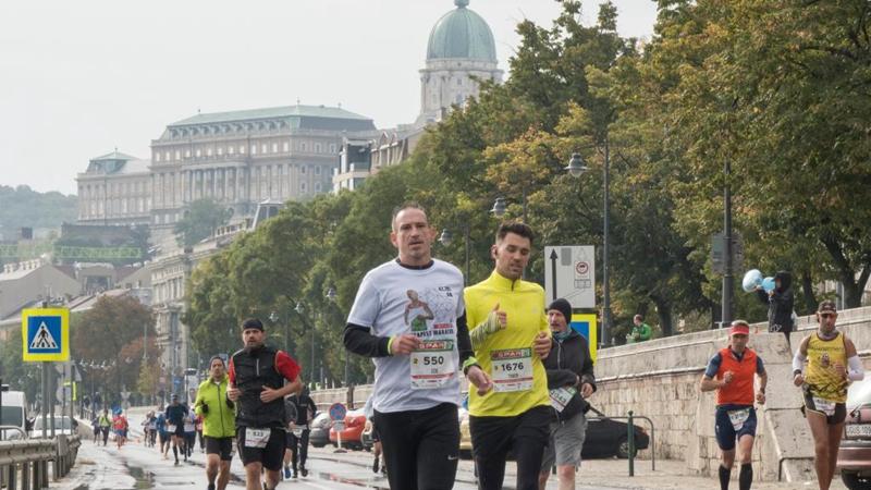 People participate in Budapest Marathon