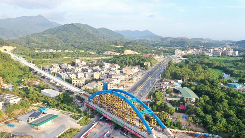 Beizitou grand bridge in Guangdong finishes tied-arch closure