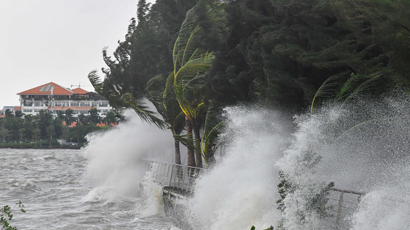 South China braces for strong winds, rain as Typhoon Kompasu approaches