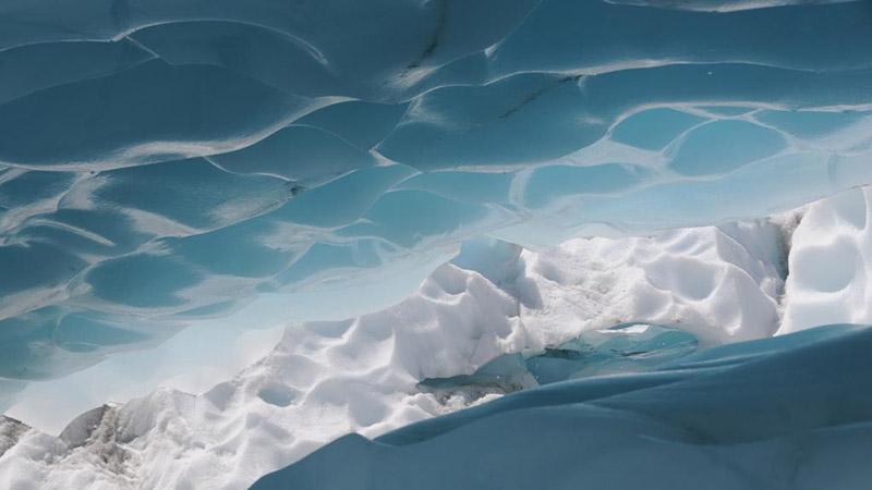 View of Fox Glacier on west coast of New Zealand's South Island