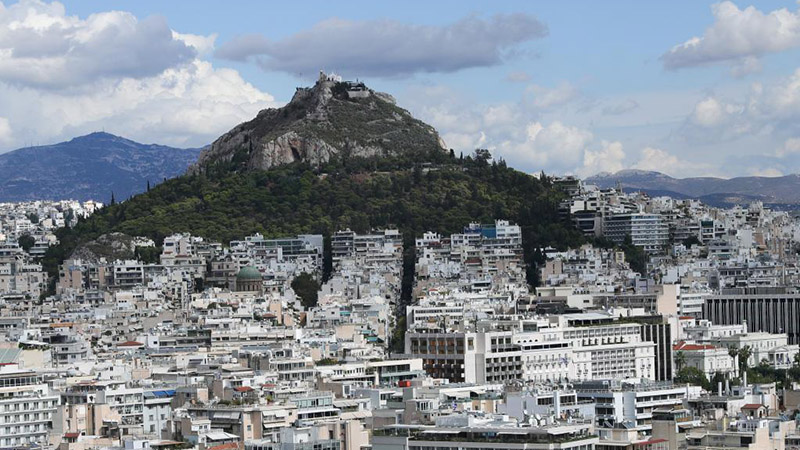 City view of Athens in Greece