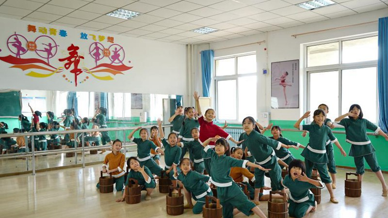 Diversified after-class services organized in Qian'an, Hebei