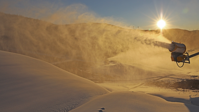 Ski fields in Zhangjiakou start to make artificial snow for Beijing 2022