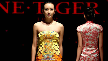 Creations presented at NE · TIGER fashion show in Beijing