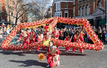 Chinese New Year of the Dog celebration held in central London