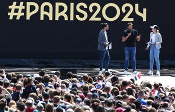 Celebrations held in Paris as part of handover ceremony of Tokyo 2020 to Paris 2024