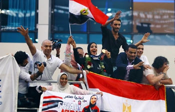 Egyptian Olympic medalists receive red-carpet reception upon returning home