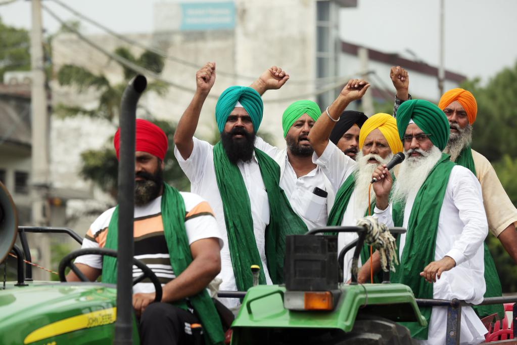 Farmers protest against three controversial farm laws in India