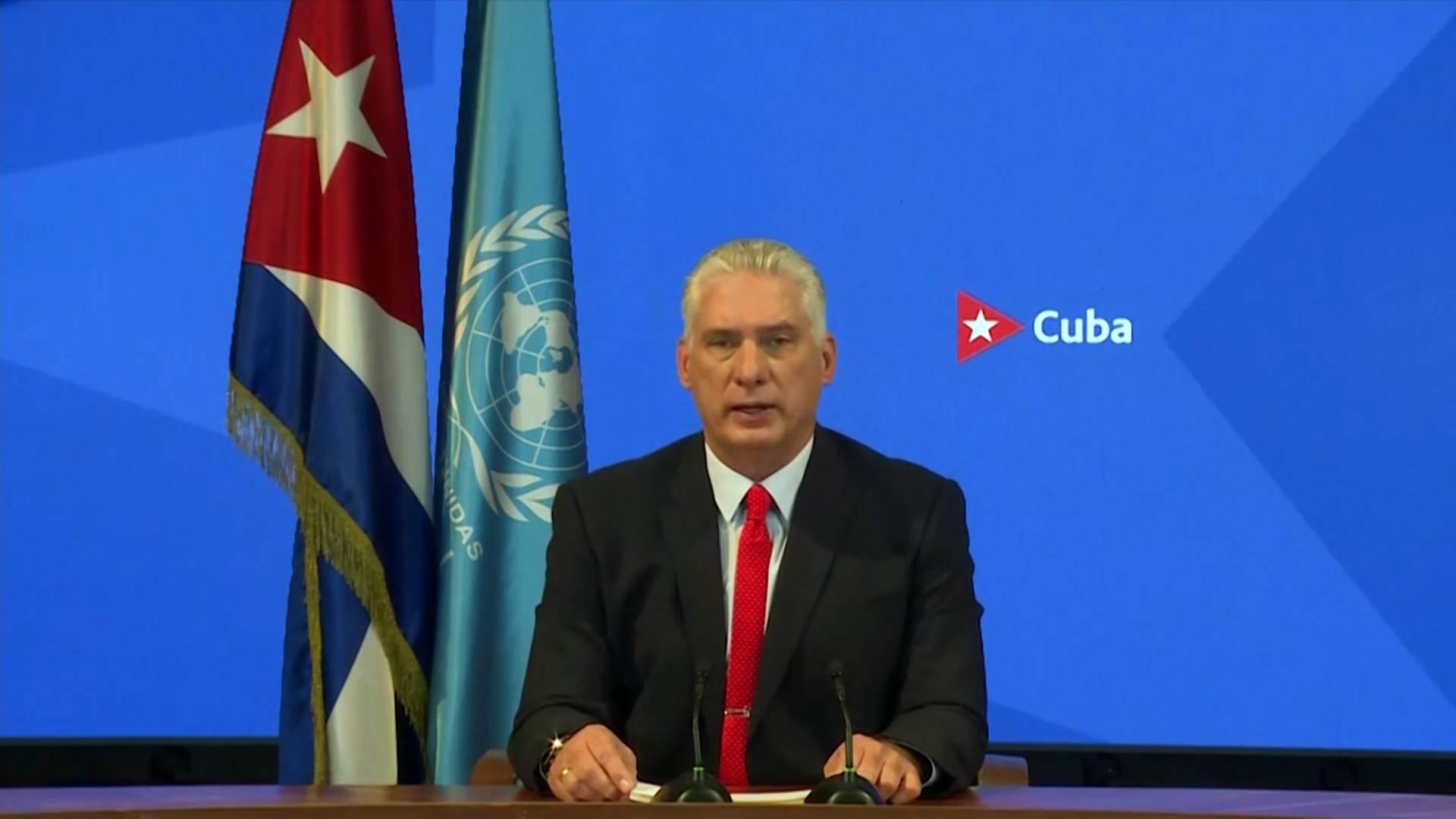 "GLOBALink   Cuban president blames U.S. for heading ""dangerous int'l schism"""
