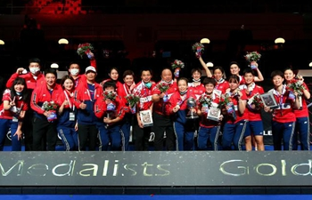 China overcomes Japan 3-1 to win Uber Cup trophy
