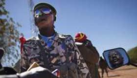 Malian forces patrol Diabaly
