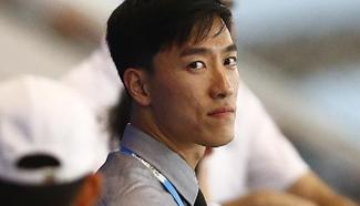 Liu Xiang watches games at YOG