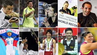 Xinhua selects top 10 world athletes in 2014